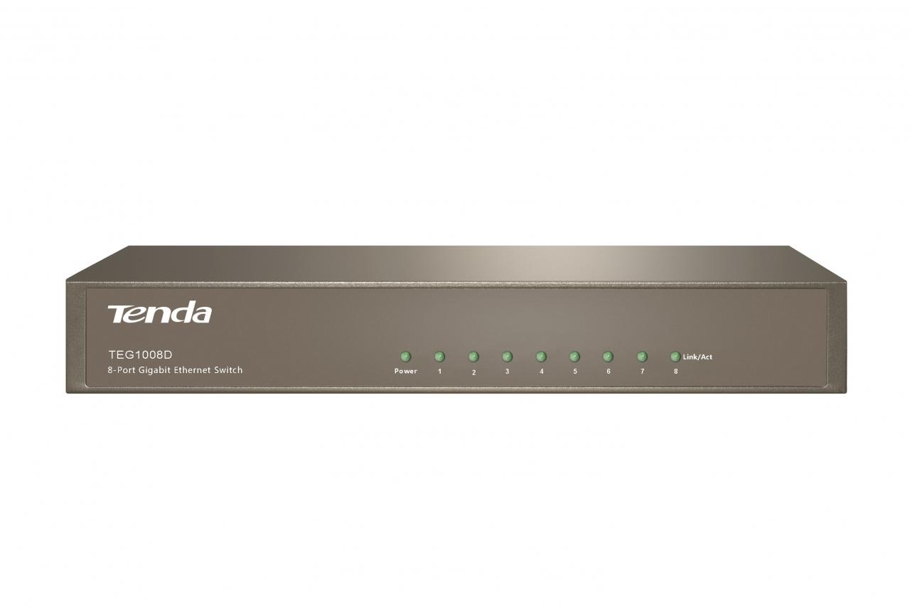 Tenda Teg1008d 8x Desktop Gigabit Ethernet Switch A6 N150 Mini Ap Router Putih